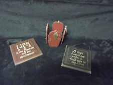 Lot of 3  Adorable Home Decor Adams & Co Wall Plaques & Apple Planter Holder