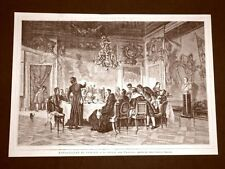 Esposizione d'arte in Torino nel 1875 Il pranzo del Vescovo Quadro di F.Pastoris