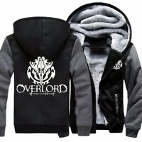 Anime Overlord Cosplay Mens Warm Jacket Hoodie Sweatshirts Thicken Coat US Size