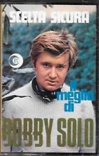 """BOBBY SOLO  - RARA CASSETTA MC 1969 """" SCELTA SICURA  IL MEGLIO DI BOBBY SOLO """""""