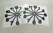 "Clock parts:6 3/4"" Full Starburst Clock numbers, self stick, 2 sets, USA made"