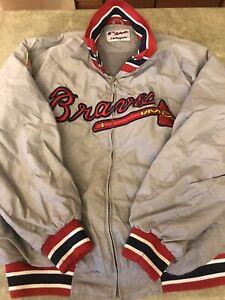Vintage Atlanta Braves Majestic Jacket, Men's XXL AUTHENTIC.