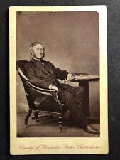 Victorian Cabinet Card: Gloucester Studio: Cheltenham: Gentleman Leather Chair
