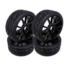 4pcs 17mm Hub Wheel Rim Tires Tyre For RC 1/8 Off-Road RC Car Buggy HSP 180043