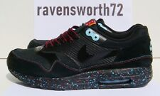 Nike Air Max 1 Maxim 10 11 RARE PARRA 2009 BLACK SPORT RED BLTC BL 366488 001 DS