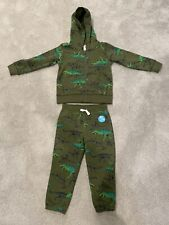 Carters Hoodie And Sweat Pants 3T Dinosaur Brand New Army Green Soft