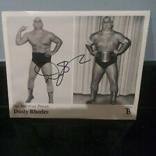Dusty Rhodes hand Signed WWE 8x10 Photo. WWF, NWA, WCW.