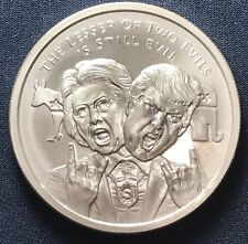 2017 Silver Shield MiniMintage Series The Lesser Of Two Evils Silver BU Round