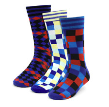 Socks Fancy Pattern Casual Crew Dress  3 Pairs