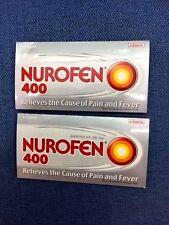 2x 400mg Ibuprofen Nurofen Pain Fever relief, Migraine ,toothache headache