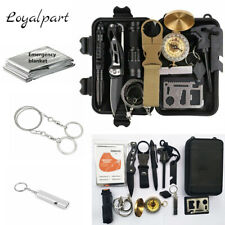 13 in 1 Outdoor Emergency Survival Gear SOS EDC Case Kit Camping Tactical Tools