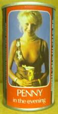 TENNENT'S PENNY IN THE EVENING ss Beer CAN w/ GIRL, SCOTLAND UNITED KINGDOM 1/1+