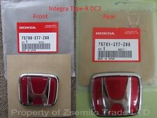 Honda Integra DC2 Type R FRONT AND REAR EMBLEMS JDM Genuine ITR OEM Badges