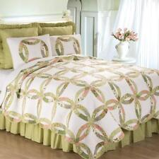 Annie's Wedding Ring Traditional King Size 3 Pc Quilt Set Quilt + 2 Shams C&F