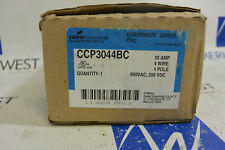 Cooper Crouse-Hinds CCP3044BC POWERMATE Plug Series 30A 4W 4P 600VAC 250VDC *NEW