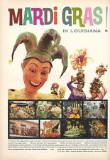 "1966 LouisianaTourist Mardi Gras ""Biggest Free Show on Earth""  PRINT AD"