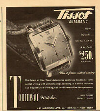 1952 vintage Ad, Tissot Automatic, Tourneau Watches -  091913
