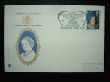 1980 la reine mère Stuart FDC & St Pauls Walden Bury SHS CV £ 8