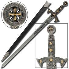 Knights Templar Blade of Honor Silver Medieval Replica Longsword