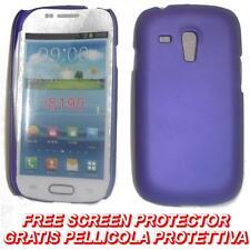 Pellicola+custodia BACK COVER VIOLA per Samsung I8190 Galaxy S3 S 3 mini (H5)