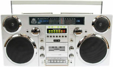 GPO Brooklyn 1980S-Style Portable Boombox - CD Player, Cassette Player, FM NEW