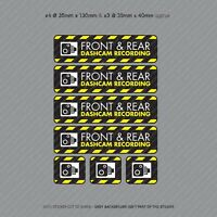 7 x Dash Cam Recording Stickers CCTV In Car Video Camera Decal Sticker - SKU3110