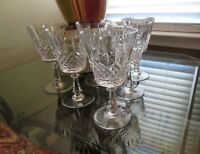 "VINTAGE VAL ST LAMBERT CRYSTAL"" ASTRID""  WATER GOBLETS ~SET OF 6~EX CONDITION"