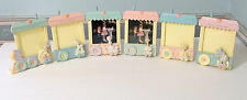 PRECIOUS MOMENTS VINTAGE PICTURE FRAME TRAIN BY ENESCO 1991 - VERY RARE SET Of 6