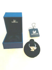 Ring Size 7 in box Gorgeous Saks Fifth Avenue Swarovski Crystal Silver Triangle