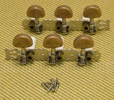 007-3756-000 Fender Classical Guitar 3x3 Plate Tuners w/Brown Buttons CDN90/CN90