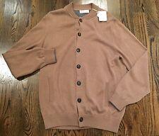 1,150$ Brunello Cucinelli Khaki Cotton Cardigan Size 56 or XXL Made in Italy