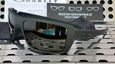 New Oakley 9380-0166 DOUBLE EDGE Sunglasses Matte Black/Dark Gray Lenses
