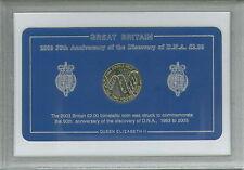2003 scoperta del DNA DOPPIA ELICA MONETE BIMETALLICHE £ 2 (UNC) Caccia Set regalo da collezione
