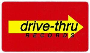 Drive Thru Records OG Logo Sticker New Found Glory Something Corporate Finch