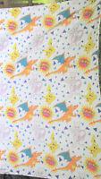 Nintendo Pokemon Flannel Twin Size Flat Sheet Pikachu Charizard Material Warm