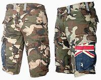 JET LAG Herren Cargo Shorts Bermuda Kurze Hose Army camouflage USA Australien