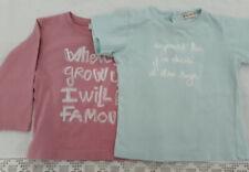 2 tee-shirts Grain de Blé, taille 18 mois, vert jade, vieux rose (19)