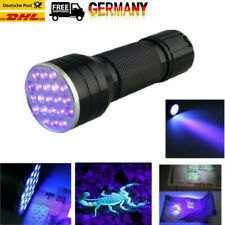 Tragbare UV Ultra Violet 21 LED Taschenlampe Schwarzlicht Aluminium Taschenlampe