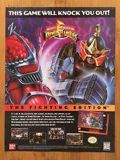 Mighty Morphin Power Rangers SNES Sega Genesis 1995 Print Ad/Poster Official Art