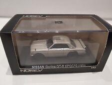 1/43  1971 NISSAN SKYLINE 2000 GT-R KPGC10 1/43 Silver NOREV
