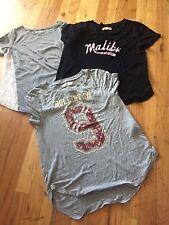 Lot Of 3 Women's Juniors Hollister T Shirts Short Sleeve XSmall 2 NWOT~ 1 Euc