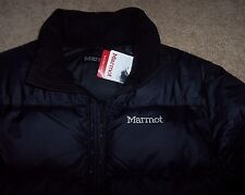 NWT Marmot $225 BLACK OURAY 700-Fill Down Puffer Jacket Coat M Men's 96240 SHARP