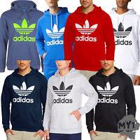 adidas Mens Trefoil Hoodie Sweatshirt Original Pullover All Colours 100% Genuine