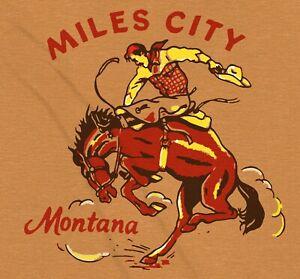 Cowboy Miles City Rodeo Western Vintage RRL Style T-Shirt