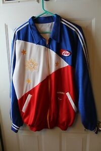 PHILIPPINES TEAM MANNY PACQUIAO FULL ZIP POLYESTER WARM UP  JACKET MENS M/L