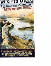 Travel poster art unframed poster boat lady of lake  longest side 10 inches (176