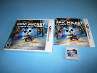 Epic Mickey Power of Illusion (Nintendo 3DS) XL 2DS Game w/Case & Manual