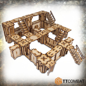 Sci-Fi Wargaming Scenery Iron Labyrinth - Death Quadrant Complex TT COmbat MDF