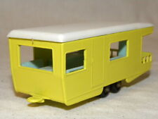 MINIATURE LESNEY MATCHBOX N°23 CARAVANE VINTAGE TOY TRAILER CARAVAN YELLOW BPW
