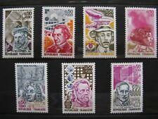 FRANCE neufs n° 1744 à 1748 + 1768-69 CELEBRITES AVEC SURTAXES MNH